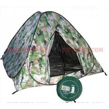 Саморазгъваща се камофлажна палатка за четирима човека - еднослойна